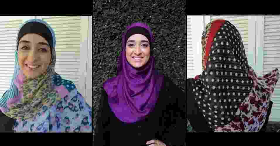 Hijabs da Fay.Z, marca da gaúcha Falastin Zarruk (na foto), 24, que terceiriza a confecção dos véus e demais acessórios que vende, mas planeja para breve uma confecção própria - Divulgação