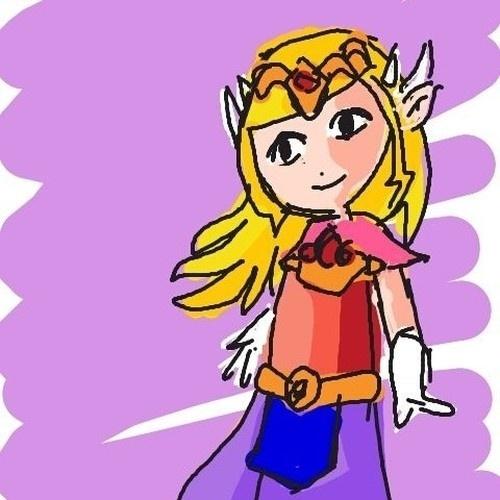 """Muita gente desenha o Link para representar Zelda, mas é a princesa que dá o nome para a série """"The Legend of Zelda"""""""