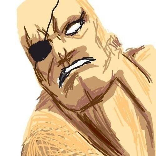 "O lutador Sagat, de ""Street Fighter II"", foi escalado para transmitir a palavra ""eye patch"" (tapa-olho)"