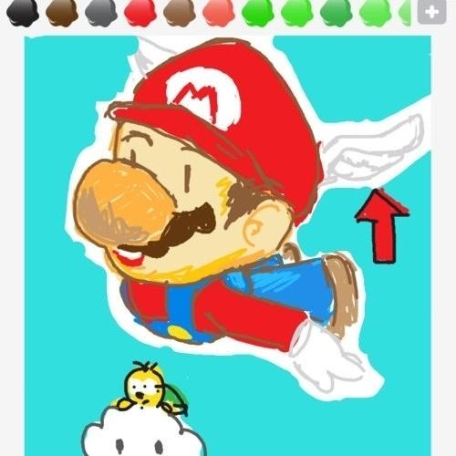 O que é isso no chapéu voador de Mario?