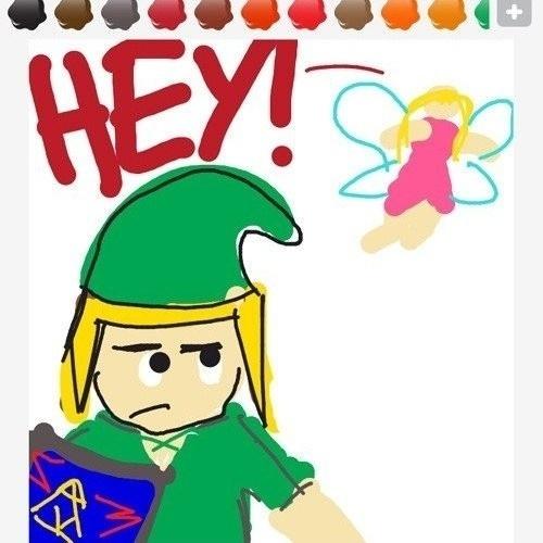 """Quem nunca se irritou com essa fadinha de """"The Legend of Zelda: Ocarina of Time""""? Exemplo perfeito para """"Draw Something"""""""