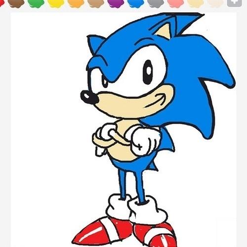 """Sonic, o ouriço terrestre que é o símbolo máximo da Sega, está entre as palavras de """"Draw Something"""""""