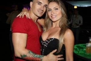 A ex-BBB Renata Dávila (à dir.) e o ex-namorado, Filipe Soldati