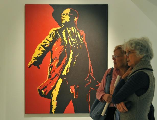 "Foto da pintura ""A Lança"" (The Spear), do sulafricano Brett Murray (18/5/12)) - Alexander Joe/AFP"
