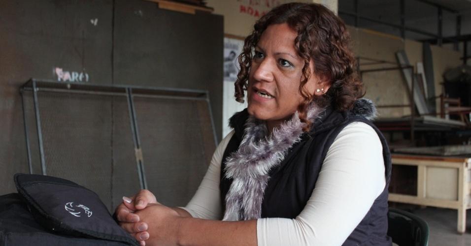 """Laura Barrionuevo, 28, é aluna da Mocha Celis e quer cursar radiologia. """"É a melhor oportunidade que tive na vida até agora"""", conta à reportagem do UOL"""