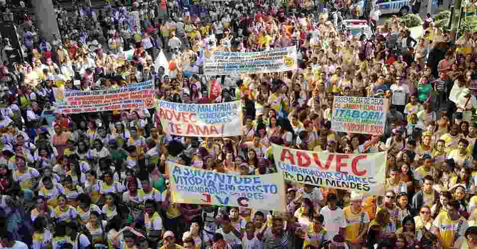 19.mai.2012 - Marcha para Jesus - Luiz Roberto Lima/Futura Press/AE