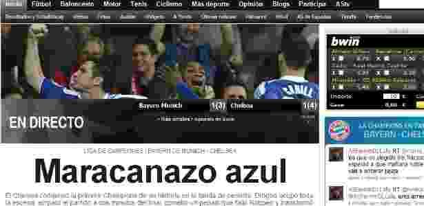 Repercussão do jornal espanhol AS do título do Chelsea da Liga dos Campeões  - Reprodução