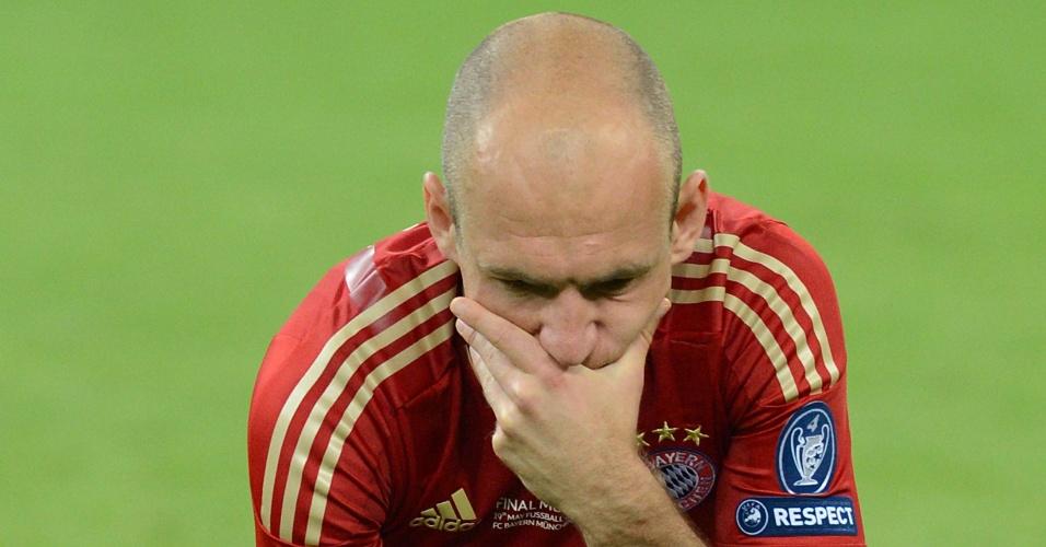 Robben lamenta derrota do Bayern Munique para o Chelsea na final da Liga dos Campeões