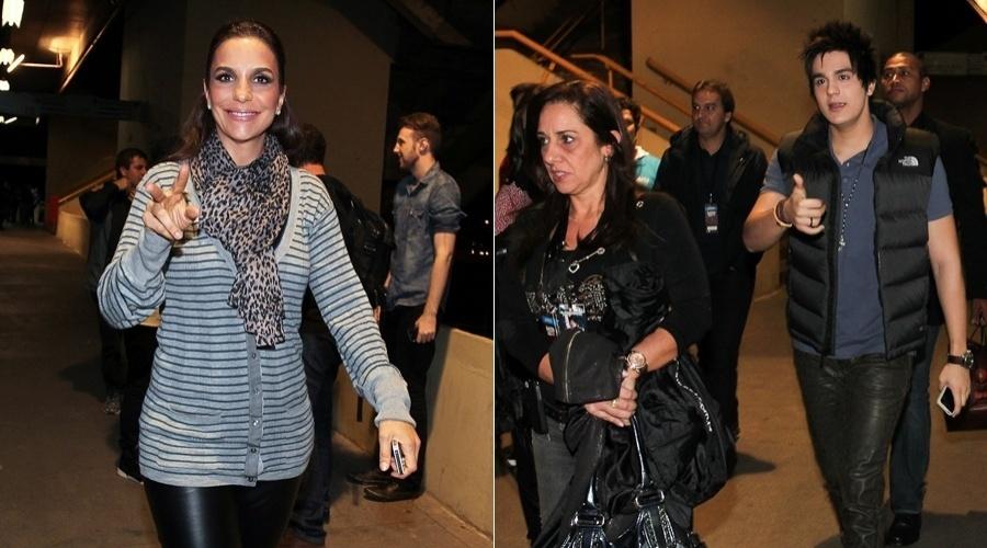 Ivete Sangalo e Luan Santana chegam na Arena Anhembi, São Paulo, para show (20/5/12)