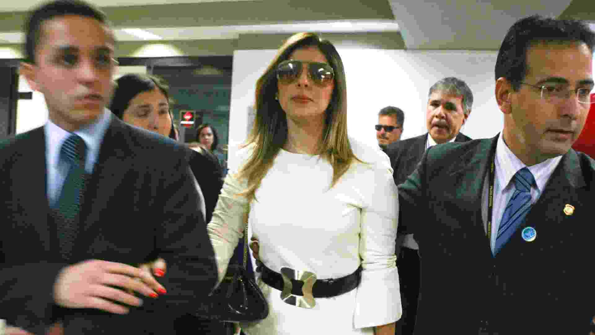 22.mai.2012 - Andressa Mendonça, mulher de Carlinhos Cachoeira, chega ao Congresso Nacional, em Brasília (DF) - Andre Borges/Folhapress