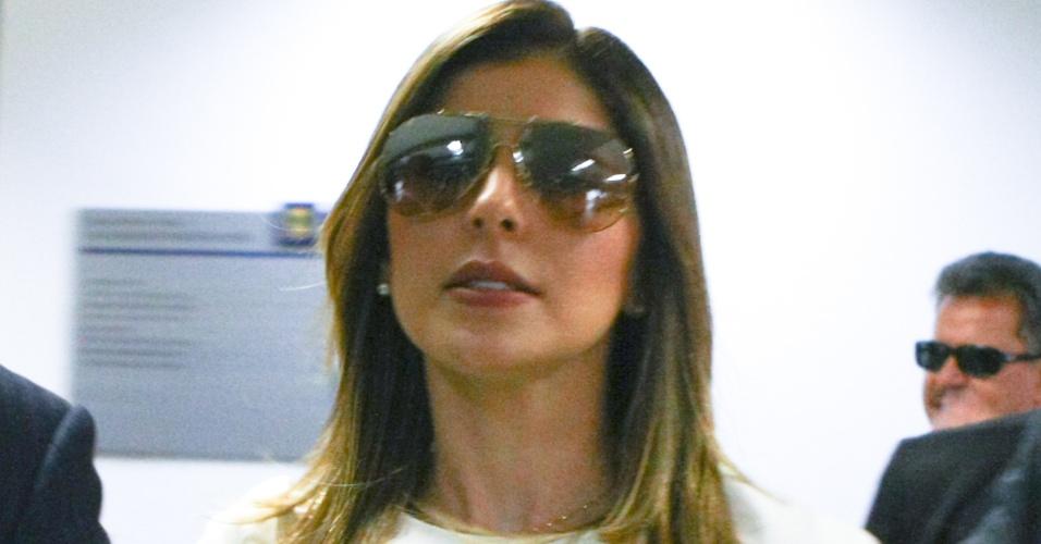 22.mai.2012 - Andressa Mendonça, mulher de Carlinhos Cachoeira, chega ao Congresso Nacional, em Brasília (DF)