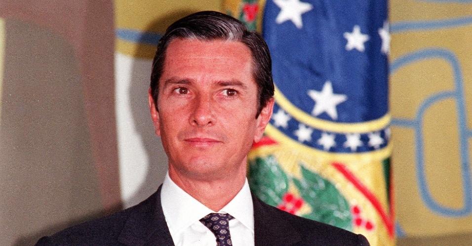 22.mai.2012 - Fernando Collor deixou a presidência em 29 de dezembro de 1992 e foi substituído pelo vice, Itamar Franco (PRN)