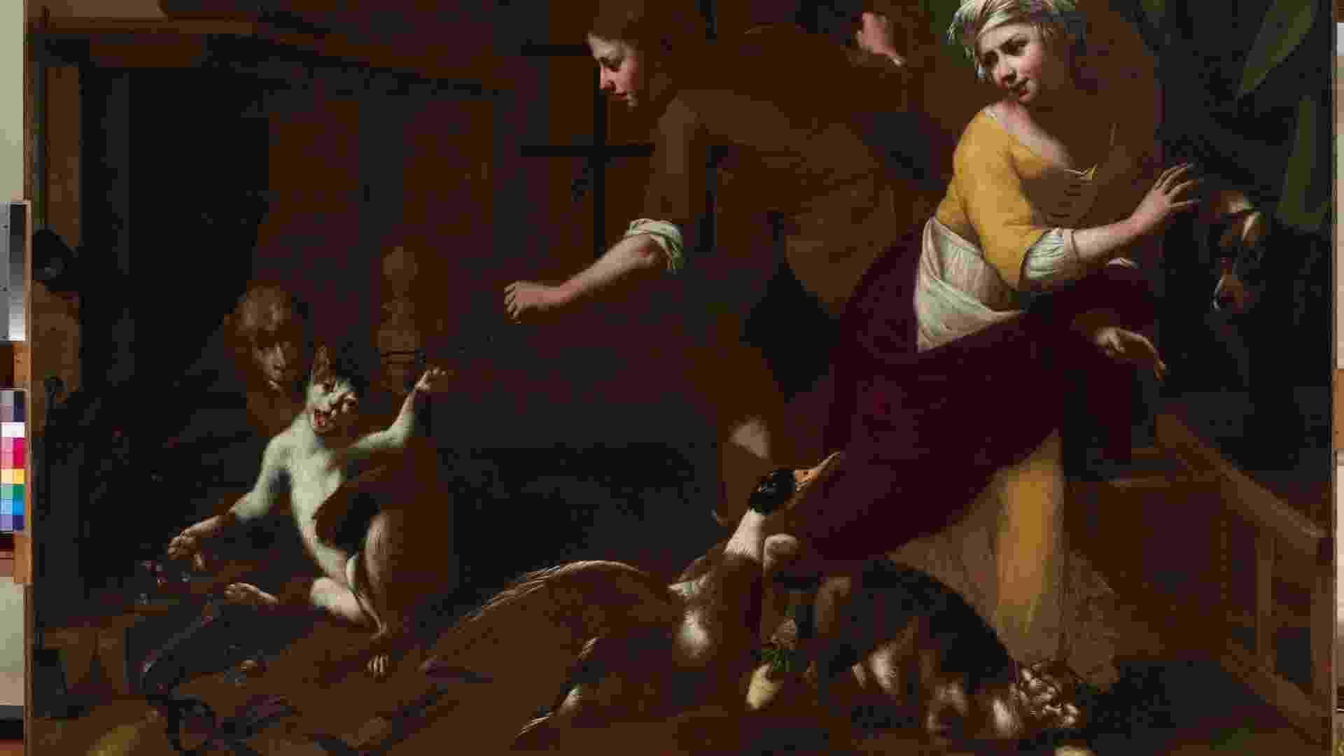"""A exposição """"Caravaggio e Seus Seguidores"""" está em cartaz em Belo Horizonte até 15 de julho, depois será exibida no Masp de 26 de julho até 30 de setembro. Na imagem, obra de Tommaso Salini, um dos 14 artistas que seguiram o pintor barroco - Divulgação"""