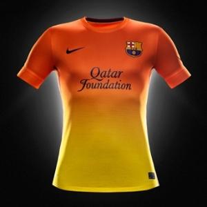 Camisa reserva mistura laranja e amarelo em degradê