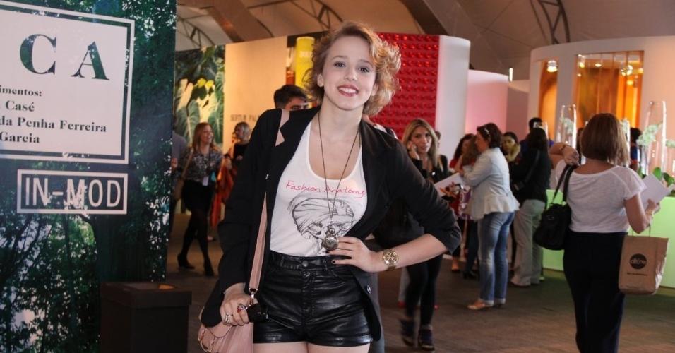 Marcella Rica prestigia a edição Verão 2013 do Fashion Rio (22/5/12). O evento de moda acontece no Jockey Club, zona sul do Rio