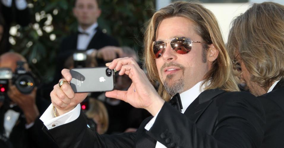 O ator Brad Pitt, que está no elenco de