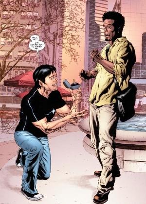 Página que mostra o casamento dos personagens Jean-Paul Beaubier e Kyle Jinadu - Reprodução/Marvel.com