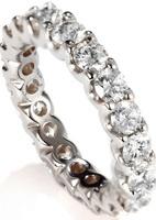 Aliança em ouro branco 18k com diamantes brancos, de Ara Vartanian