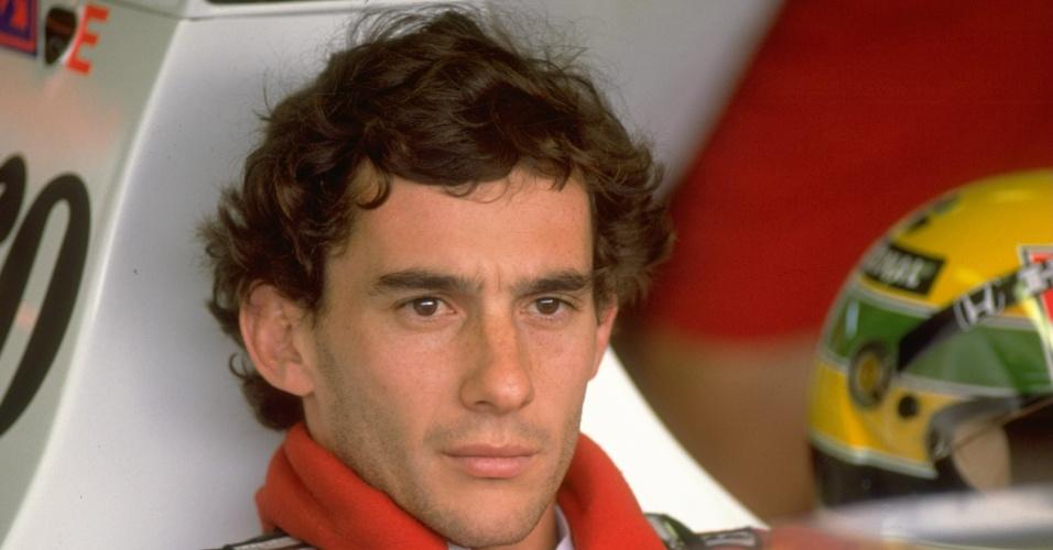 Ayrton Senna durante a temporada de 1989, em que corria pela McLaren