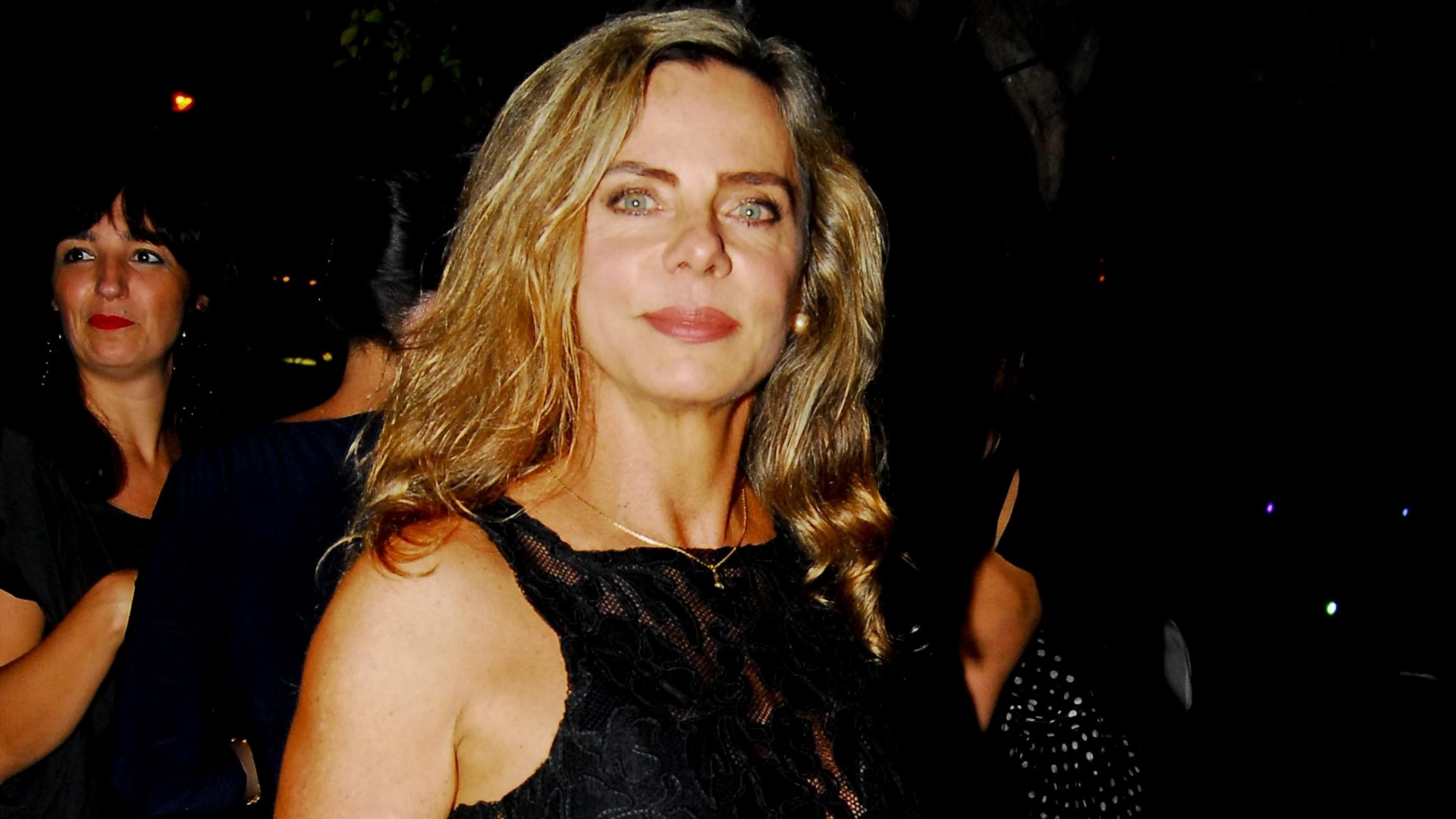 Bruna Lombardi em evento da Vivo e Telefônica no Jockey Club em São Paulo (12/4/12)