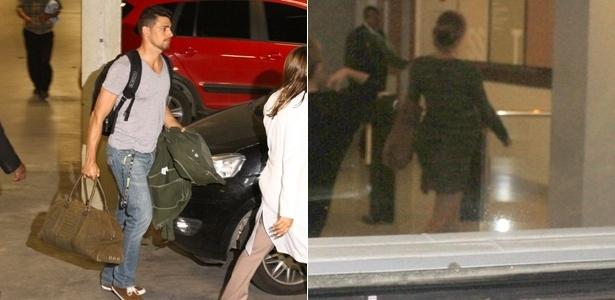 Cauã Reymond e Grazi Massafera chegam à maternidade Perinatal, no Rio de Janeiro, onde a atriz dará à luz seu primeiro filho (23/5/12)
