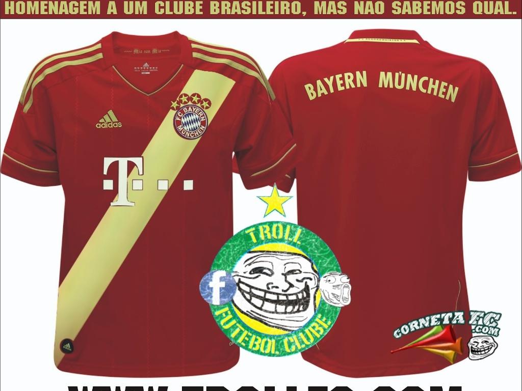 Corneta FC: Bayern de Munique homenageia clube brasileiro em novo uniforme