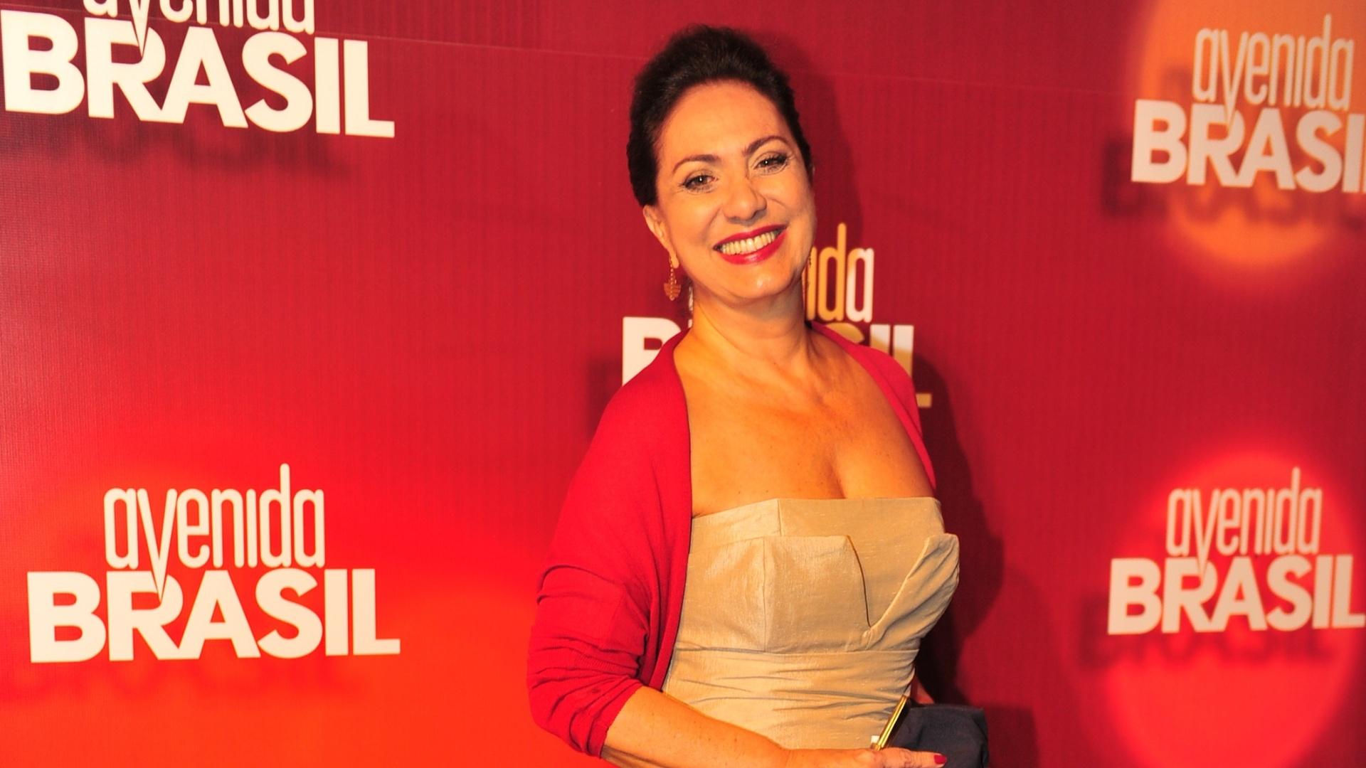 Eliane Giardini no lançamento de