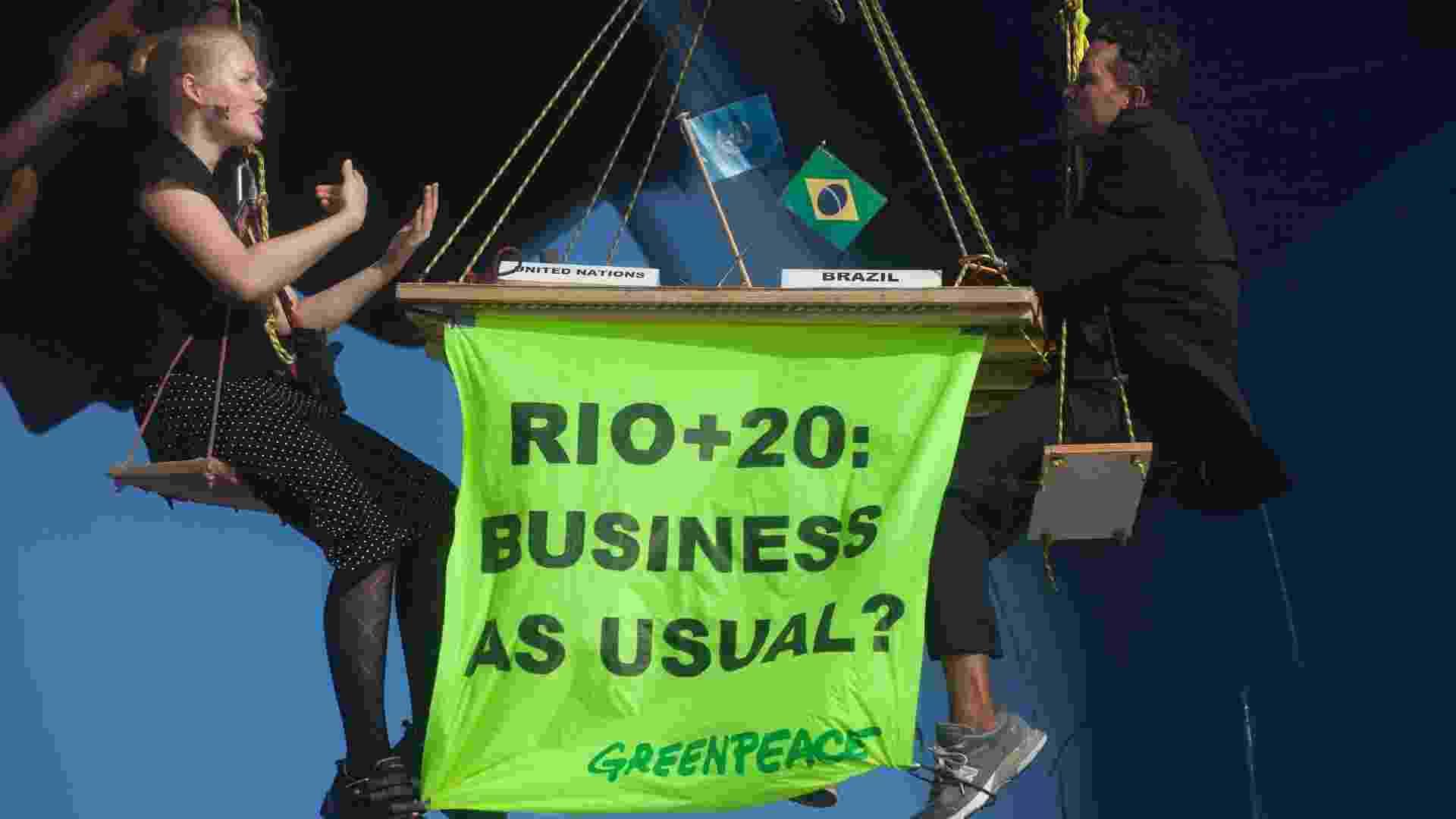 Protesto do Greenpeace no Maranhão menciona Rio+20 - Greenpeace/Gilvan Barreto