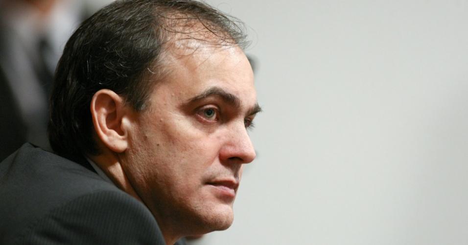 24.mai.2012 - O ex-vereador de Goiânia, Wladimir Garcez, em depoimento à CPI do Cachoeira