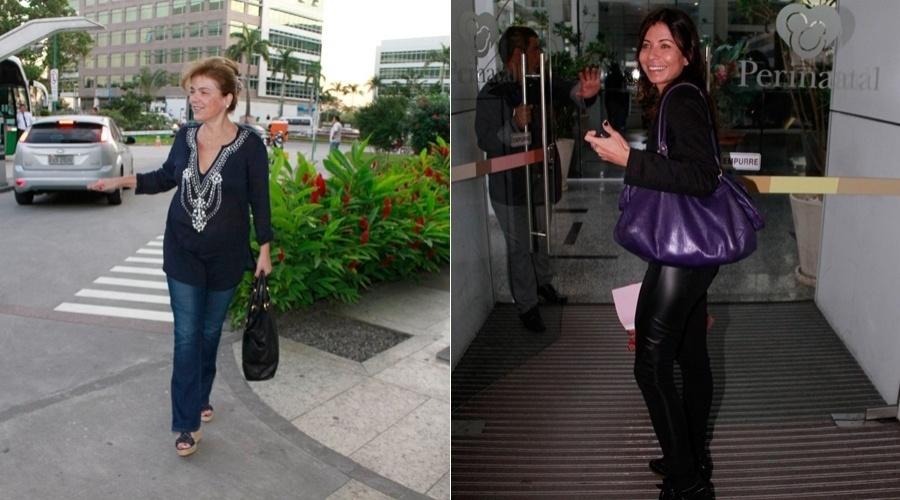A assessora Márcia Marbá e a atriz Ana Lima visitam Sofia, filha de Grazi Massafera e Cauã Reymond, em maternidade no Rio (24/5/12)