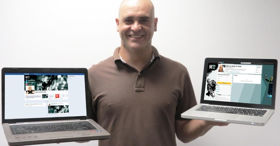 Marcos cria perfis nas redes sociais. Agora ele está no Youtube, Facebook e Twitter