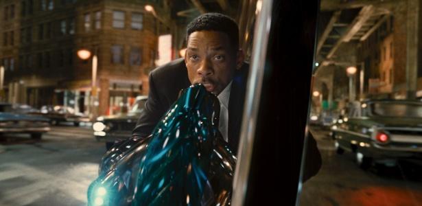 """Will Smith em cena do filme """"Homens de Preto 3"""""""