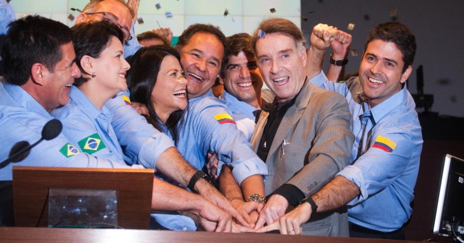 25.mai.2012 - O empresário Eike Batista participa na manhã desta sexta-feira (25) da abertura de capital da CCX, empresa de produção de carvão na Colômbia, na Bovespa, centro de São Paulo