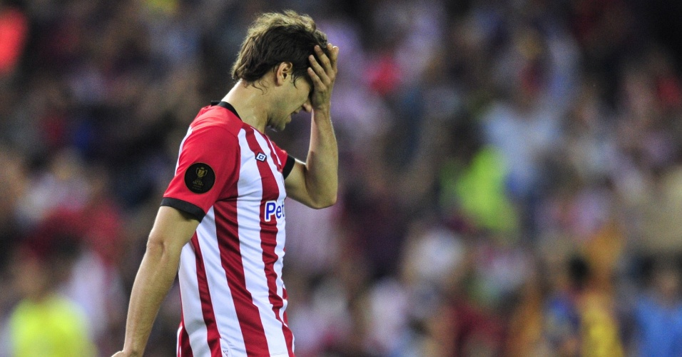 Borja Ekiza lamenta falha do Athletic Bilbao na final da Copa do Rei contra o Barcelona