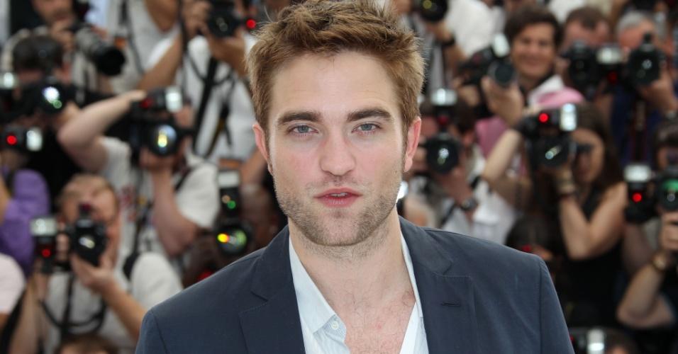 """O ator Robert Pattinson na apresentação do filme """"Cosmopolis"""", que concorre na seleção oficial do Festival de Cannes 2012 (25/5/12)"""