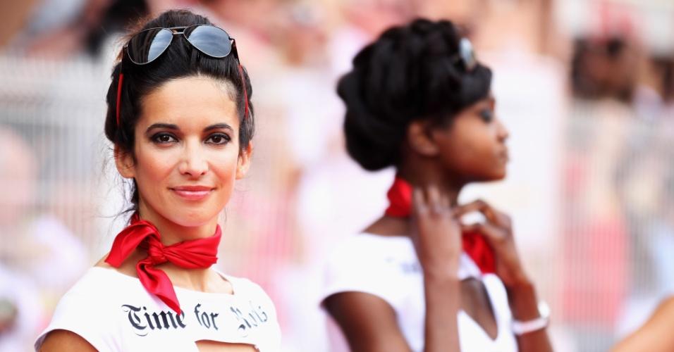 Grid girls foram presença obrigatória no GP de Mônaco da Fórmula 1