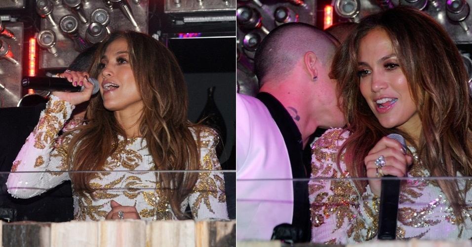 """Jennifer Lopez curte balada de lançamento de seu novo single """"Goin' In"""" com o namorado, o coreógrafo Casper Smart em Las Vegas, Nevada (26/5/12)"""