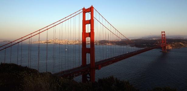 A ponte Golden Gate é um dos locais mais famosos de San Francisco, nos EUA
