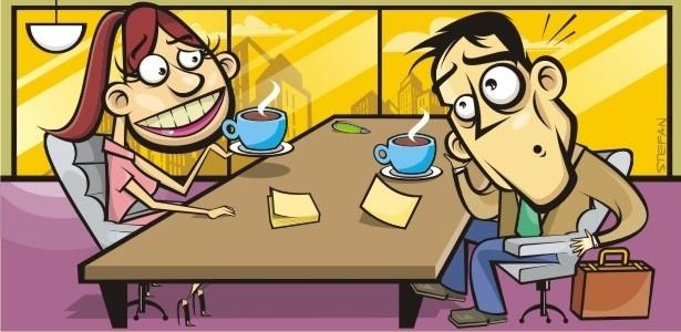 Especialista sugere gerar empatia com o funcionário. Olhe nos olhos, sorria e ofereça um café.  - Stefan/UOL
