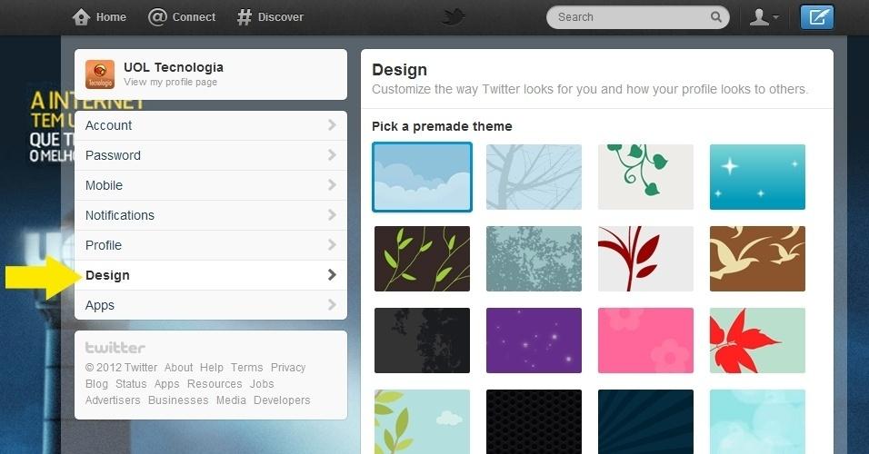 Dicas de como trocar o fundo do Twitter