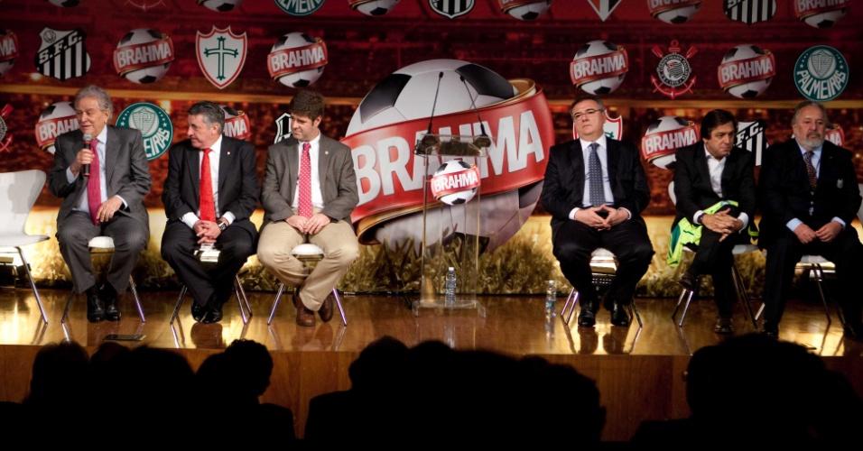 Juvenal Juvêncio, Manuel da Lupa, Márcio Della Volpe, Mario Gobbi, Arnaldo Tirone e Luís Álvaro Ribeiro se reúnem em evento da Brahma