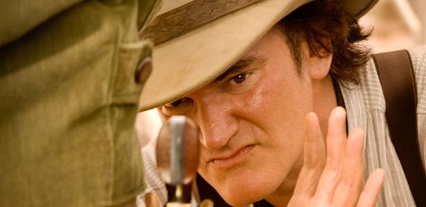 """O cineasta Quentin Tarantino durante filmagens de """"Django Livre"""" - Divulgação/Sony Pictures"""