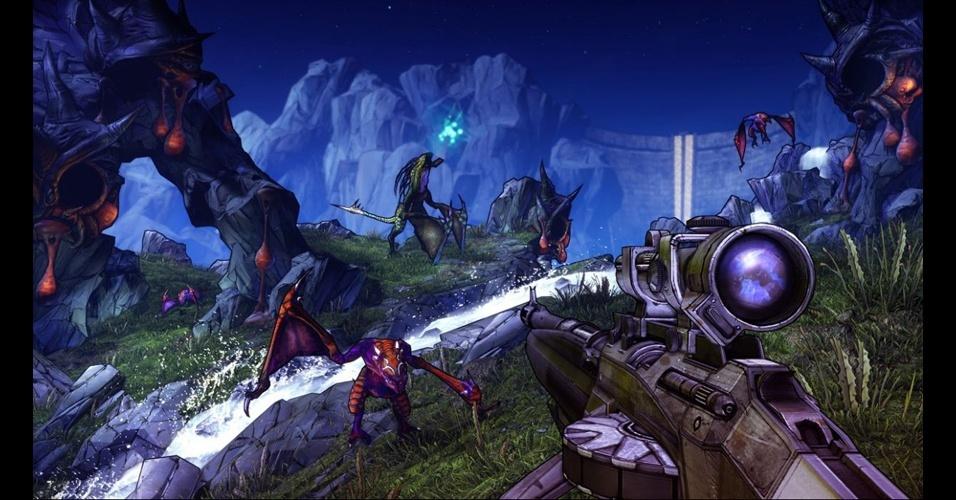 """""""Borderlands 2"""" promete tiroteio cooperativo para quatro jogadores"""