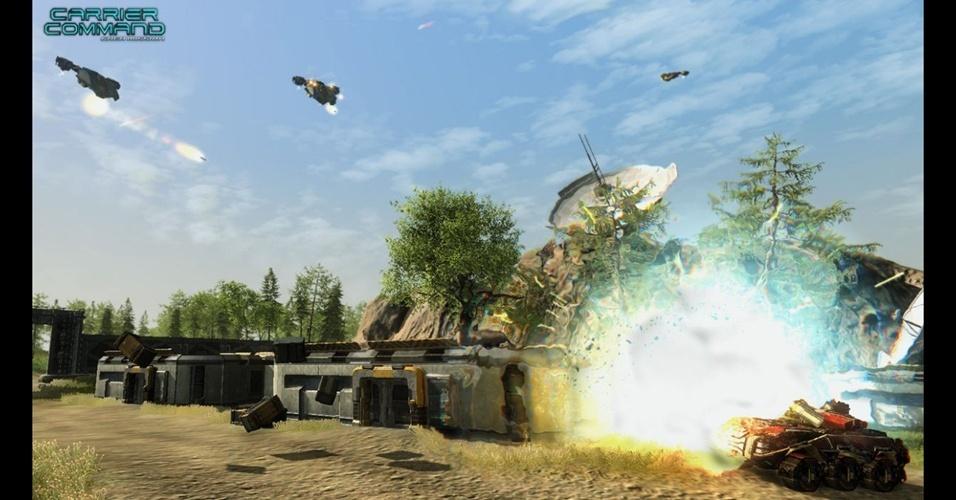 """Carrier Command: Gaea Mission"" reviverá o clássico 'RTS' dos anos 80"