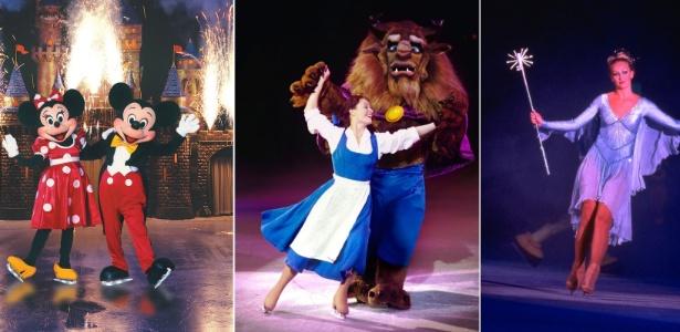 Cenas do espetáculo Disney On Ice 100 Anos de Magia, que chega ao Brasil nesta quarta-feira (30)