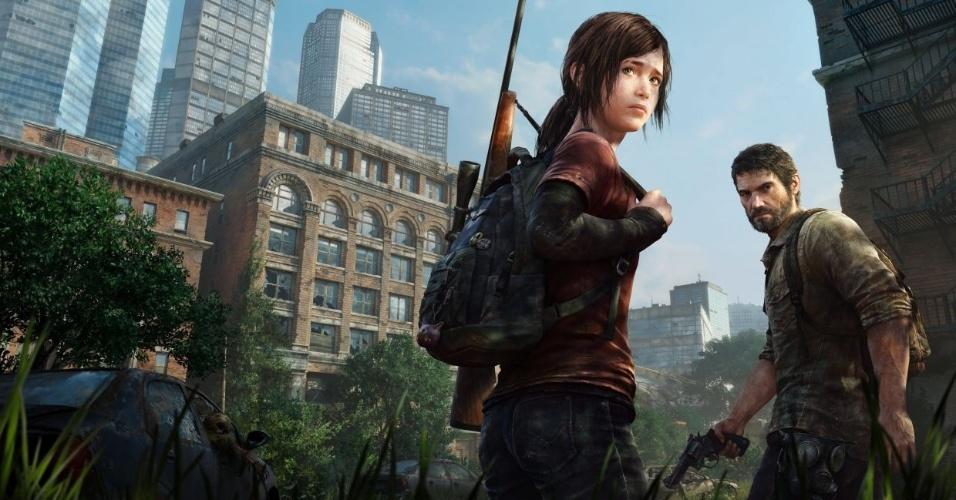 """Joel e Ellie são sobrevivmentes de um mundo devastado por uma praga misteriosa - esta é a premissa de """"The Last of Us""""Ação, do PS3"""