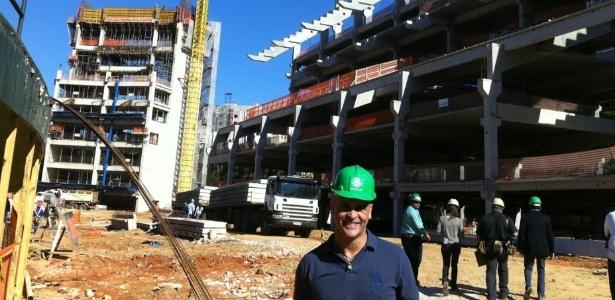 Marcos visita as obras da Arena Palestra, novo estádio do Palmeiras