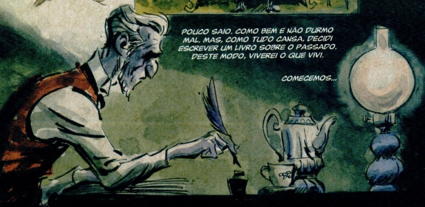 """Página da HQ """"Dom Casmurro"""", baseada na obra de Machado de Assis - Divulgação"""