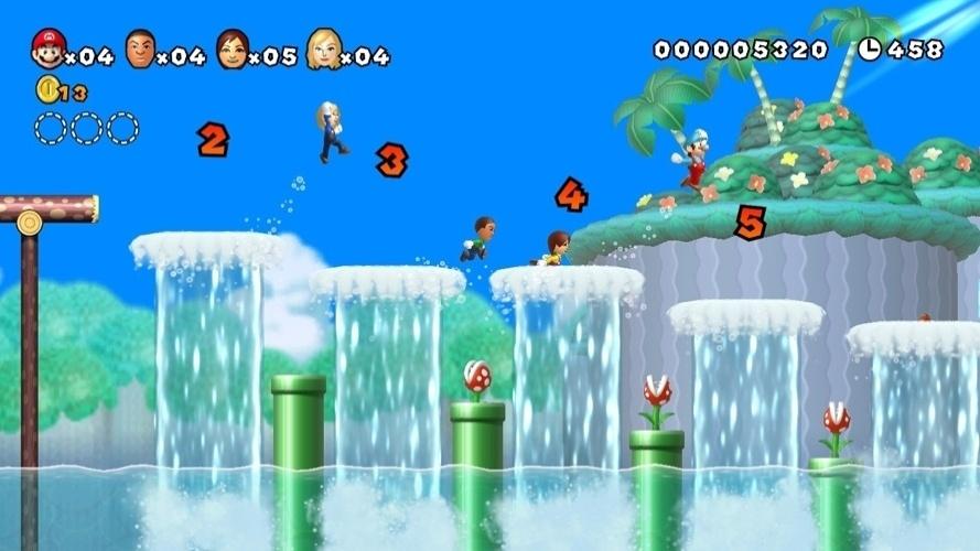 "Para Wii U, ""New Super Mario Bros. U"" permitirá controlar avatares personalizáveis nos estágios"