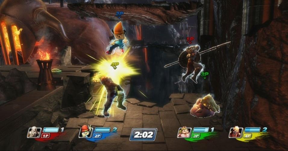 """""""PlayStation All-Stars Battle Royalle"""" reúne personagens dos consoles da Sony para partidas com muita pancadaria"""